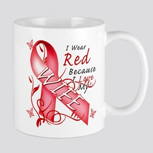 I Wear Red Because I Love My Wife Mug
